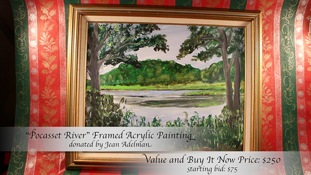 """""""Pocasset River"""" Framed Painting by jean Adelman"""