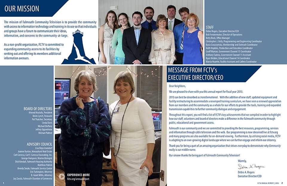 FCTV Annual Report Page 1 and 2