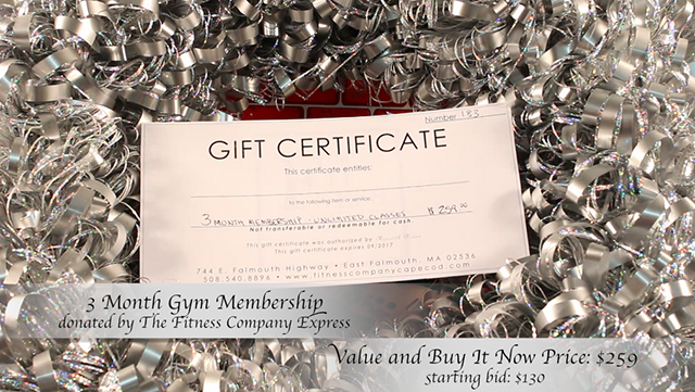 3 Month Gym Membership donated by The Fitness Company Express