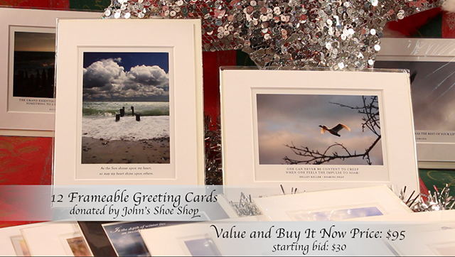 12 Frame-able Greeting Cards donated by John's Shoe Shop