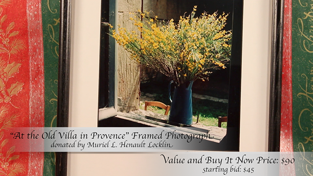 """""""At the Old Villa in Provence"""" Photograph donated by Muriel L. Henault Locklin"""
