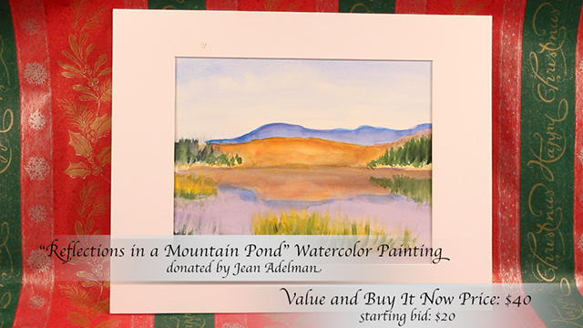 """""""Reflections in a Mountain Pond"""" Painting by Jean Adelman"""