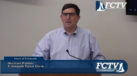 Falmouth Town Clerk Michael Palmer Early Voting 2020 Information