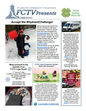 The March FCTV Newsletter is now online!