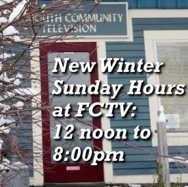 Winter Sunday Hours - Noon to 8 on Sundays