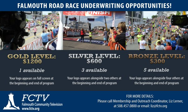 Underwrite FCTV's Coverage of Falmouth Road Race