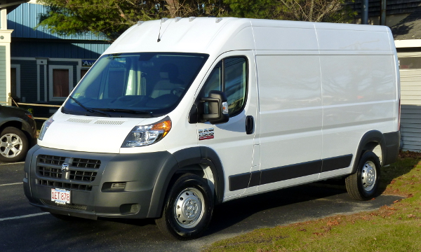 Dodge Promaster at FCTV before outfitting.